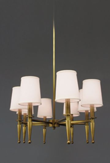 Picture of BRASS PATINA OVAL EIGHT ARM CHANDELIER