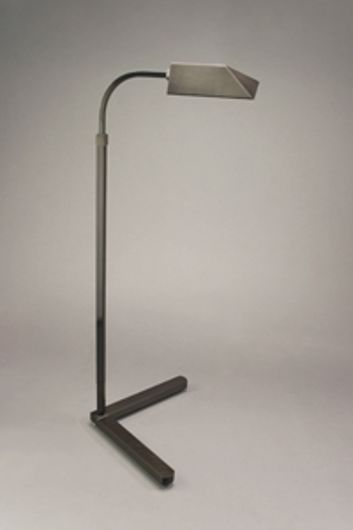 """Picture of GUNMETAL JON NORMAN LAMP WITH """"V"""" BASE & Y SHADE"""