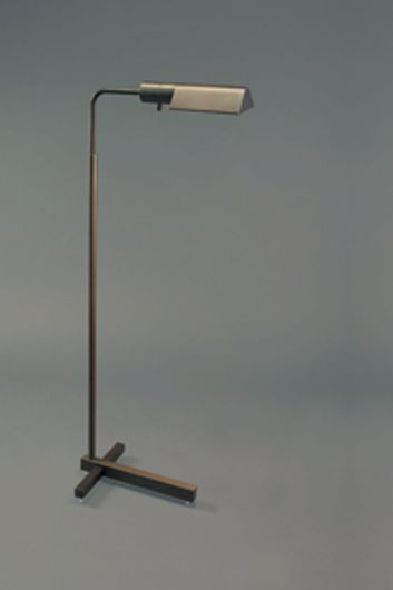 Picture of CLARUS BRONZE MATTE PHARMACY FLOOR LAMP WITH T BASE & J SHADE