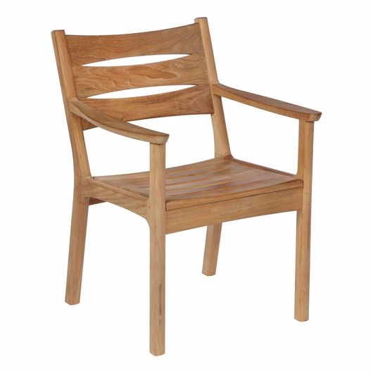 Picture of MONTEREY TEAK DINING ARMCHAIR