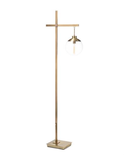 Picture of BRASS GLOBE FLOOR LAMP