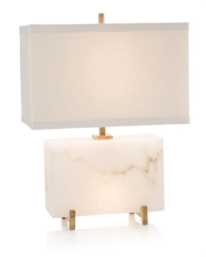 Picture of ALABASTER HORIZONTAL BLOCK TABLE LAMP