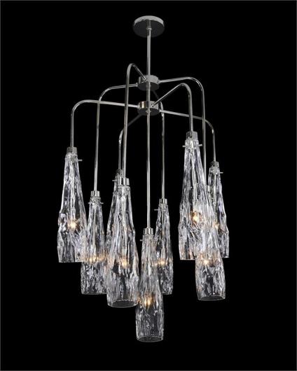 Picture of ART GLASS NINE-LIGHT CHANDELIER