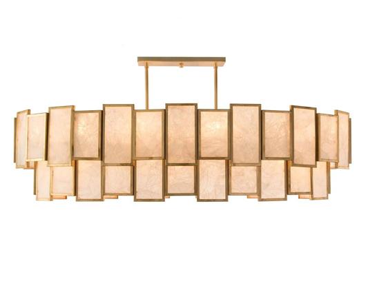 Picture of CALCITE PANEL TWENTY-LIGHT PENDANT