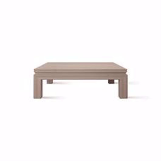 """Picture of APTOS 48"""" SQUARE CHESTNUT COCKTAIL TABLE"""
