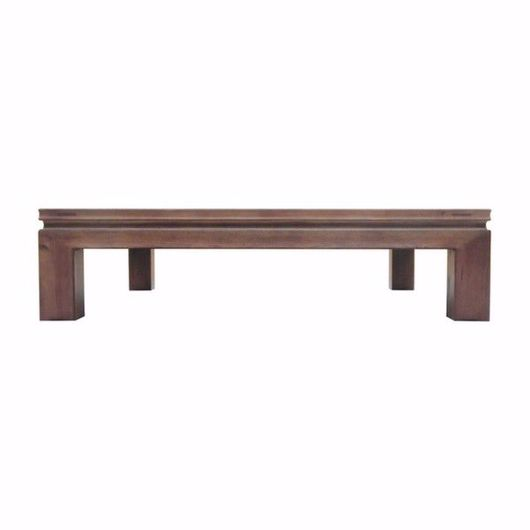 """Picture of APTOS 59"""" SQUARE CHESTNUT COCKTAIL TABLE"""