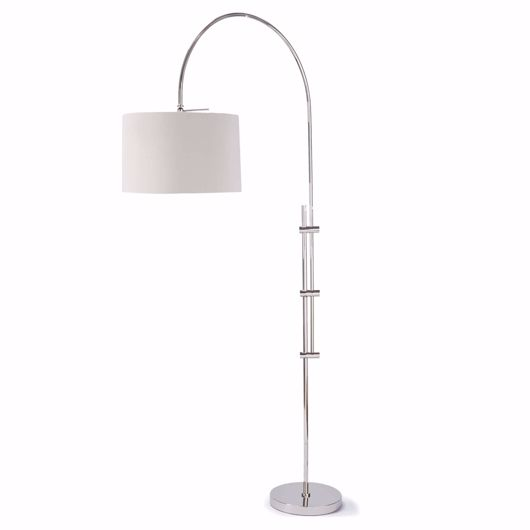 Picture of ARC FLOOR LAMP WITH FABRIC SHADE